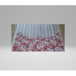 Blumen Designer Teppich Rosa